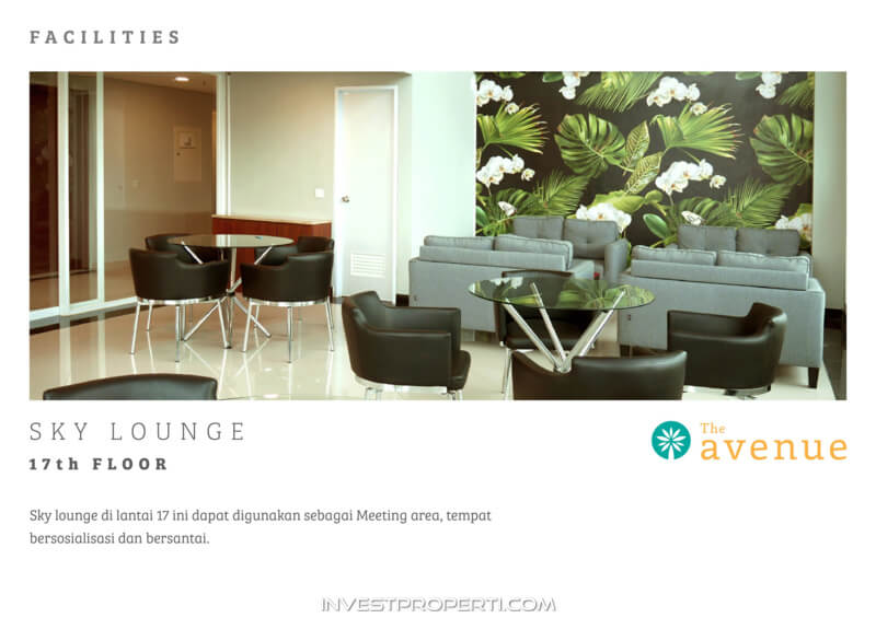 The Avenue Serpong Apartment Facility - Sky Lounge