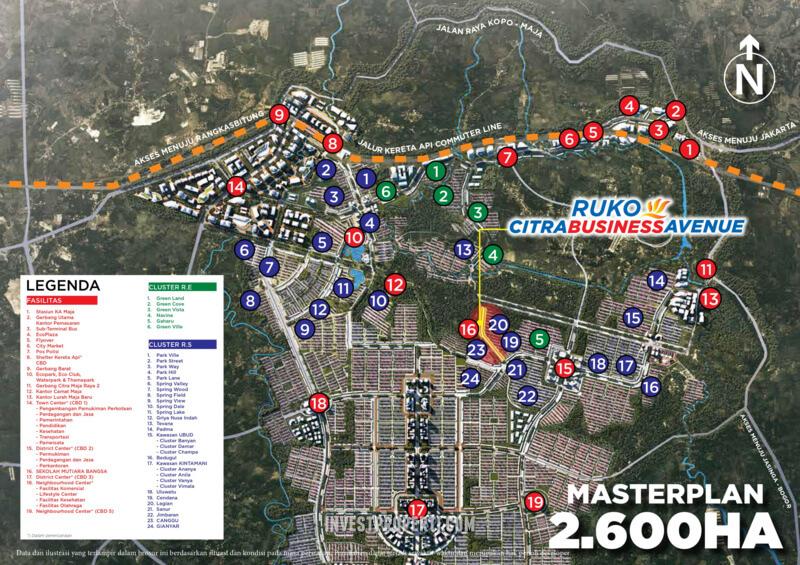 Peta Lokasi Ruko Citra Maja Raya