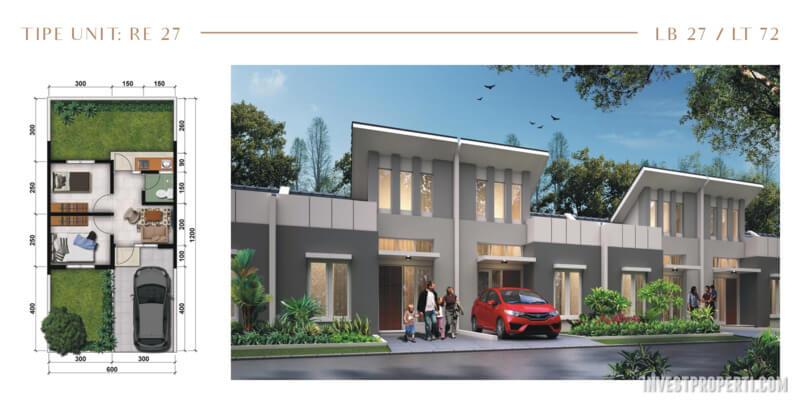 Rumah Modernland Cilejit RE Tipe 27