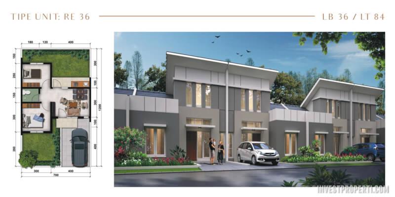 Rumah Modernland Cilejit RE Tipe 36