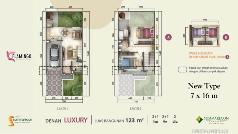 Denah Rumah Flamingo L7 - Lux