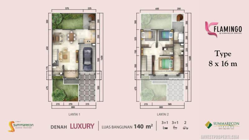 Denah Rumah Flamingo L8 - Lux