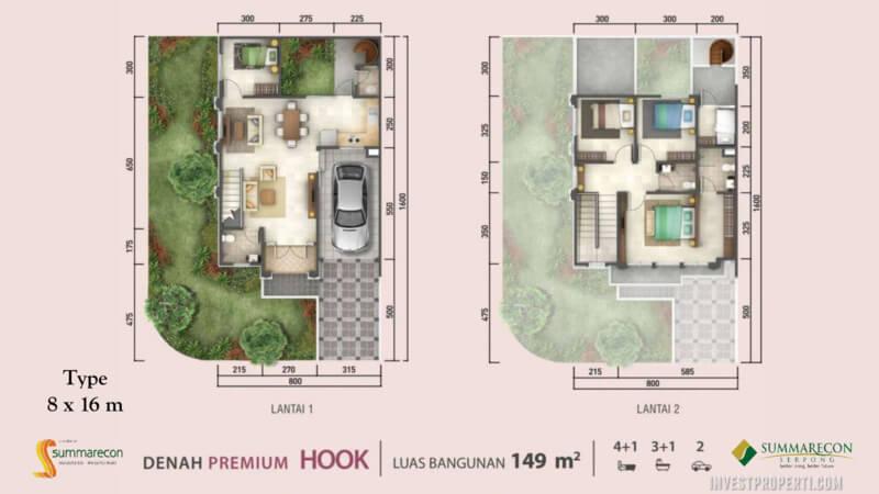 Denah Rumah Flamingo L8 - Premium