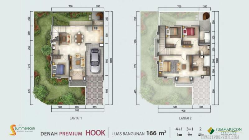 Denah Rumah Flamingo L9 - Premium