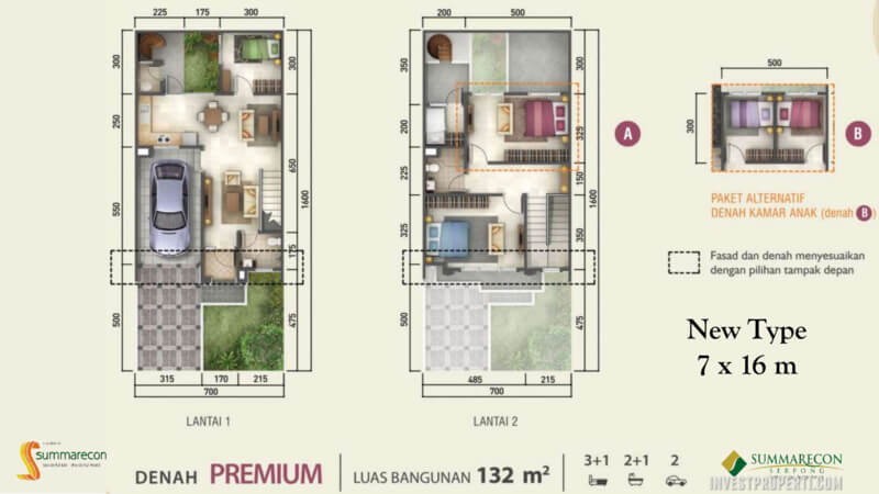Denah Rumah Flamingo L7 - Premium