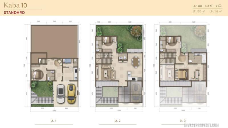 Denah Rumah Morizen Bekasi Tipe Kaba 10 Std