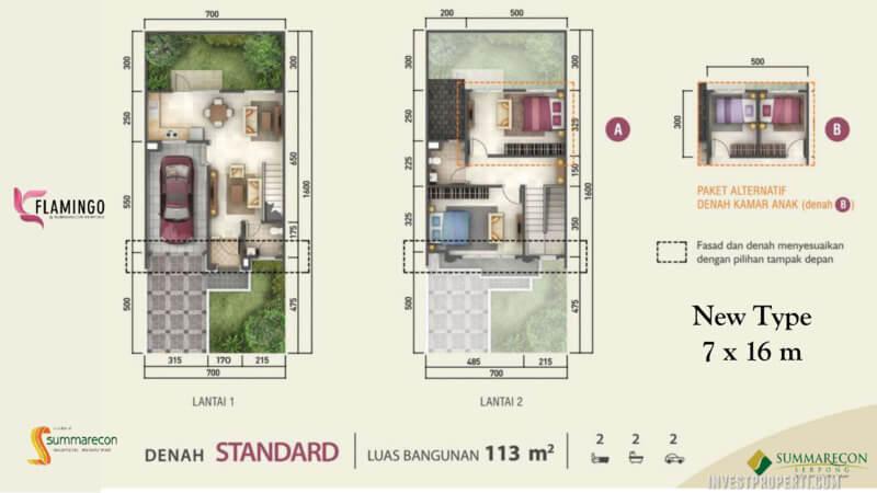 Denah Rumah Flamingo L7 - Standard