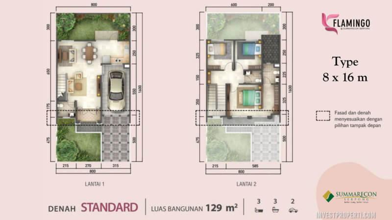 Denah Rumah Flamingo L8 - Standard