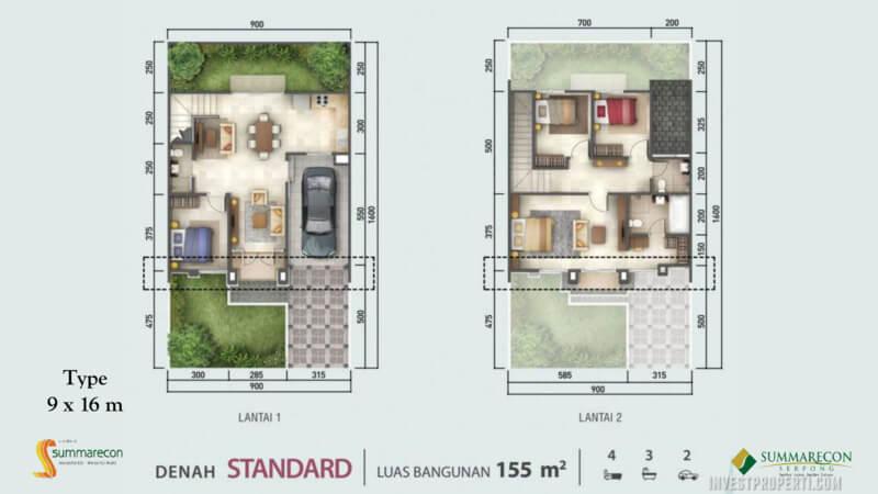 Denah Rumah Flamingo L9 - Standard