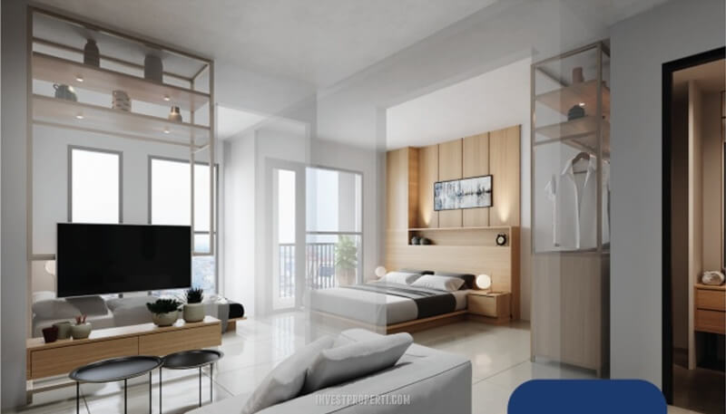 Design Apartemen Vasanta 2BR Tower Chihana