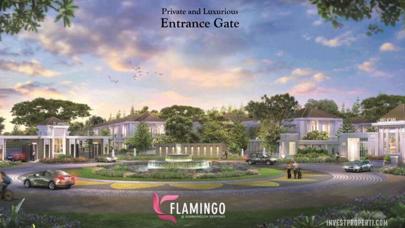 Entrance Flamingo Summarecon Serpong
