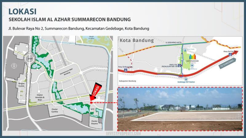 Lokasi Sekolah Al-Azhar Summarecon Bandung