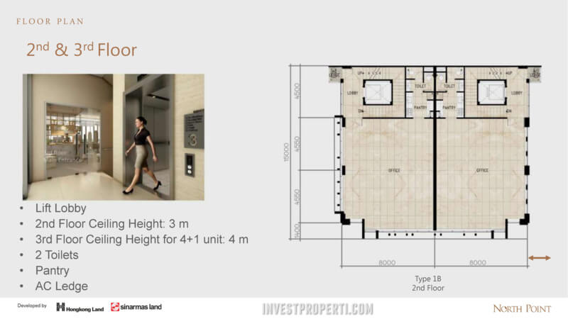 North Point Navapark 2-3rd floor plan (Type 1B)