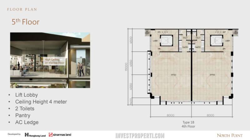 North Point Navapark 5th floor plan (Type 1B)
