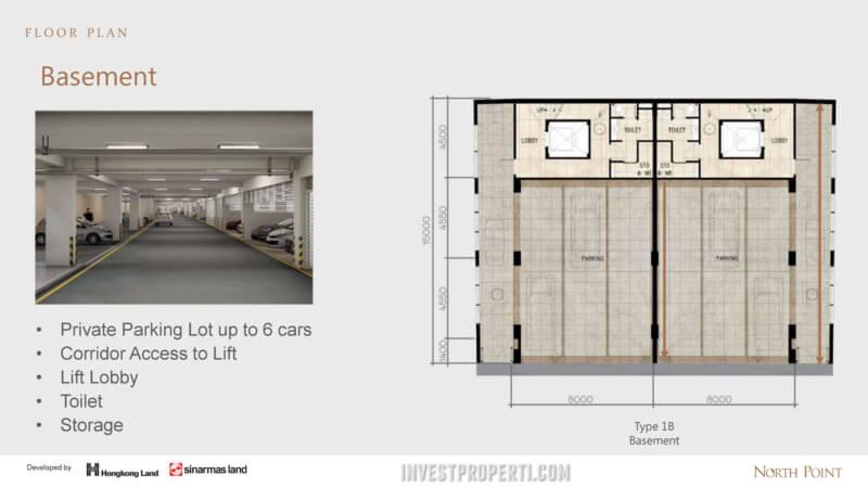 North Point Navapark basement floor plan (Type 1B)