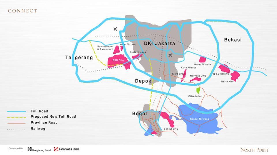 Peta lokasi BSD City