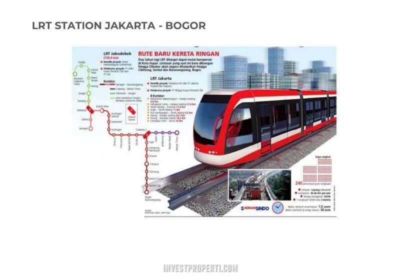 Akses LRT Jakarta - Sentul