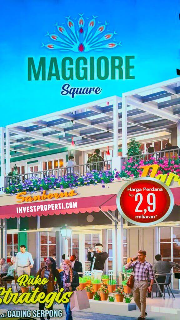 Banner Ruko Maggiore Square Paramount