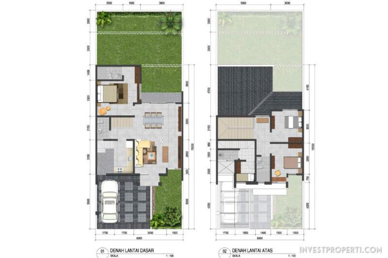 Denah Rumah Anigre Banjar Wijaya Tipe 160