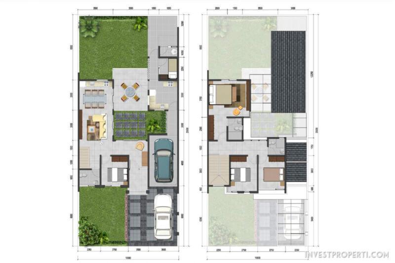 Denah Rumah Anigre Banjar Wijaya Tipe 230