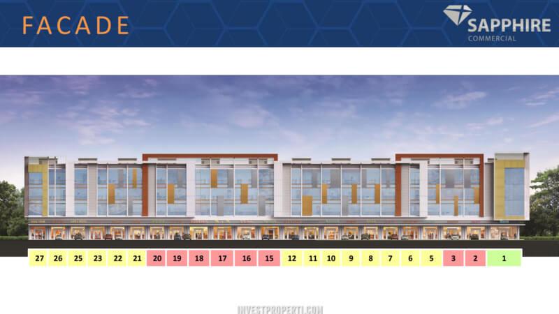 Facade Ruko Sapphire Commercial Summarecon Bekasi