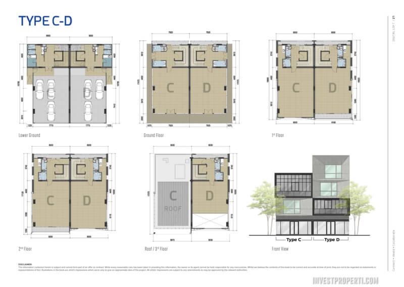Floor Plan Digital Loft BSD Tipe C-D