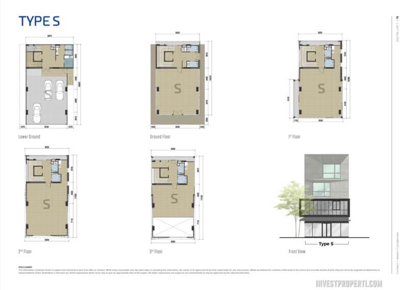 Floor Plan Digital Loft BSD Tipe S