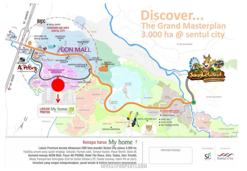 Lokasi My home Sentul City