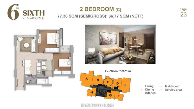 Marigold Navapark BSD Tower 6th 2 Bedroom