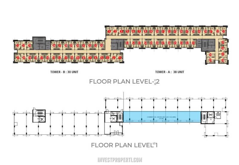 My home Sentul City Apartemen Floor Plan Tower B-A