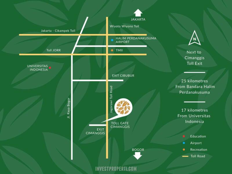 Peta Lokasi Cimanggis Golf Estate