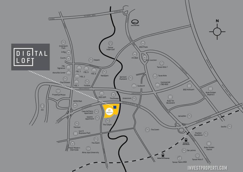 Peta Lokasi Digital Hub BSD