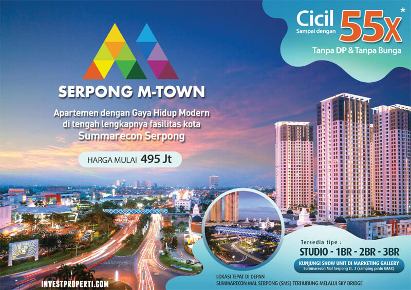 Promo Apartemen Serpong M-Town Cicil 55x