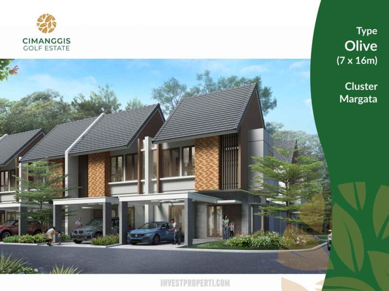 Rumah Cluster Margata Cimanggis Golf Estate Tipe Olive