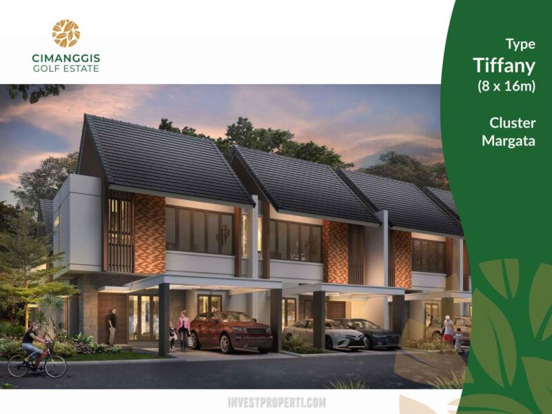 Rumah Cluster Margata Cimanggis Golf Estate Tipe Tiffany