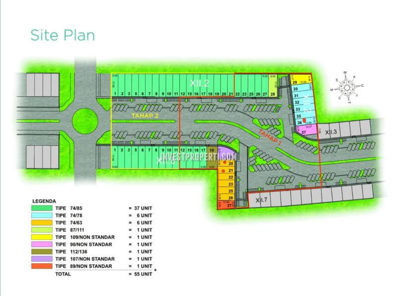 Siteplan Ruko Green Point Harapan Indah Bekasi
