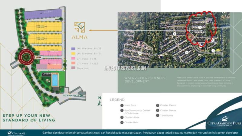Cluster Alma CitraGarden Puri Site Plan