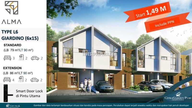 Rumah L6 Giardino - Cluster Alma CitraGarden Puri