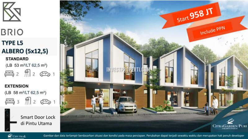 Rumah Albero L5 - Cluster Brio CitraGarden Puri