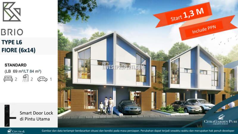 Rumah Fiore L6 - Cluster Brio CitraGarden Puri