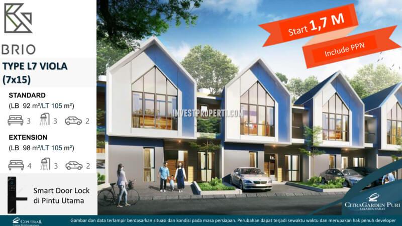 Rumah Viola L7 - Cluster Brio CitraGarden Puri