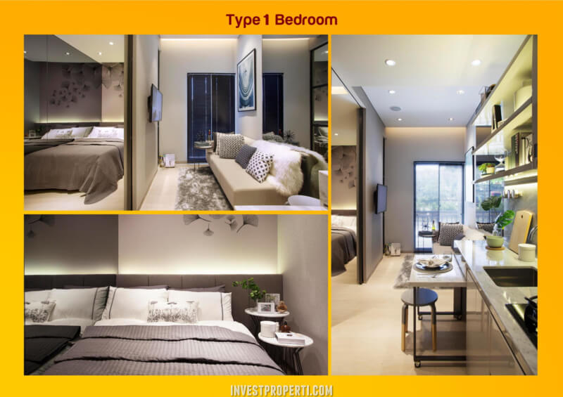 Design Akasa Pure Living Tipe 1BR