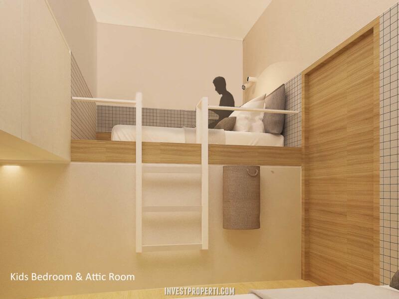 Interior Rumah ImajiHaus BSD - Attic Room