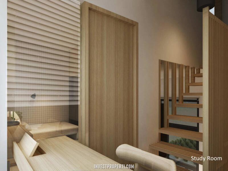 Interior Rumah ImajiHaus BSD - Study Room