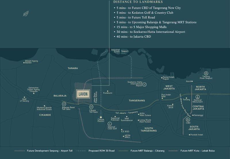 Peta Lokasi Lavon