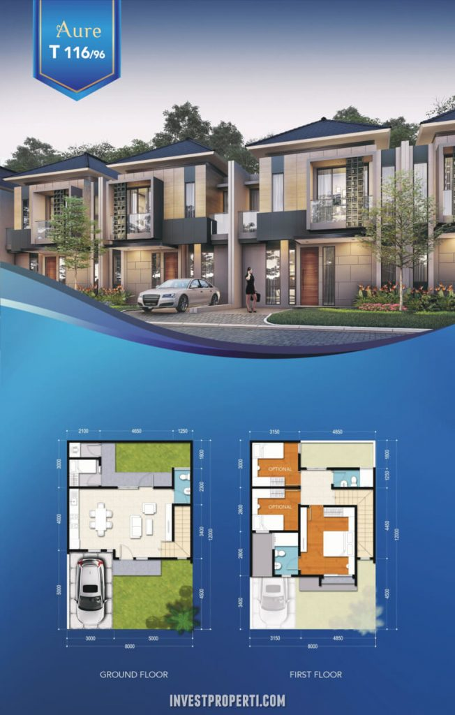 Rumah Aure Avenue BSD Tipe 116