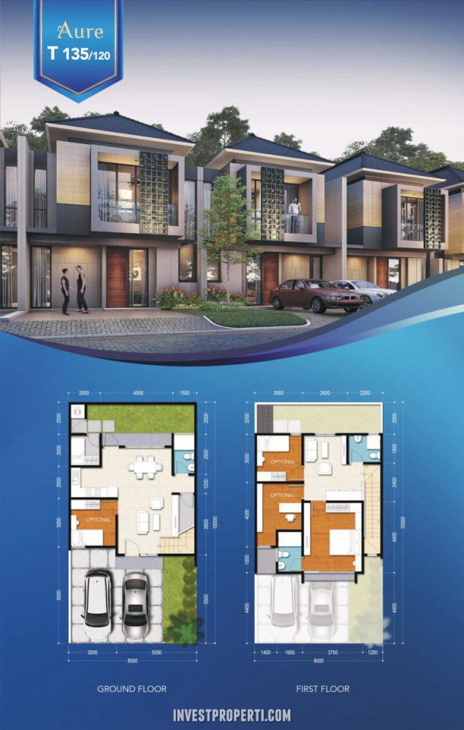 Rumah Aure Avenue BSD Tipe 135