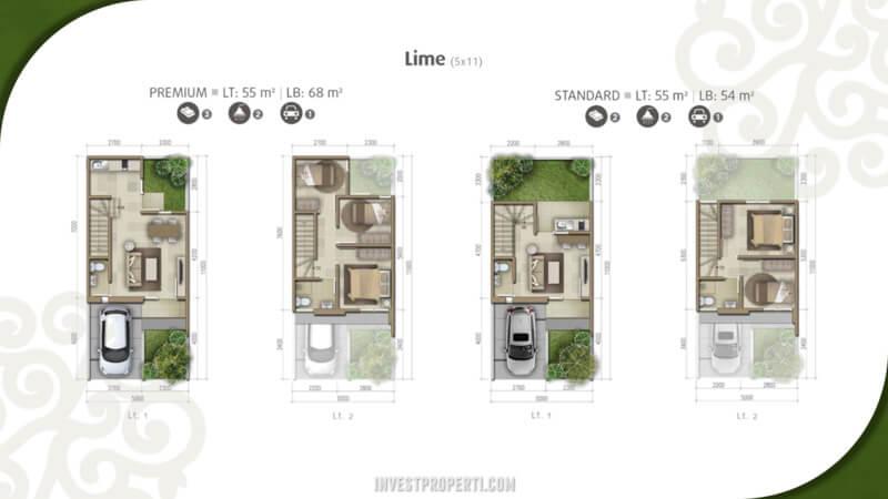 Denah Rumah Olive Residence Summarecon Bekasi Tipe Lime