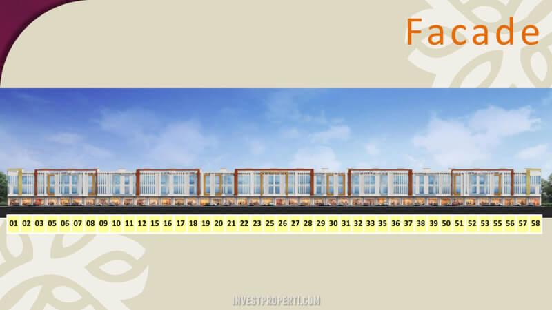 Facade Burgundy Commercial Summarecon Bekasi