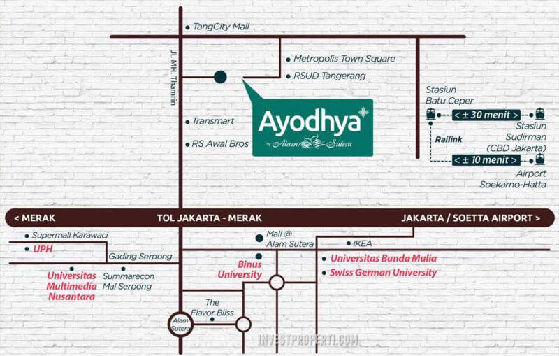 Lokasi Ruko Gaia Ayodhya Tangerang
